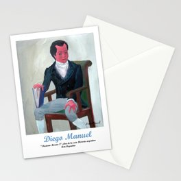 Mariano Moreno 3 por Diego Manuel. Stationery Cards