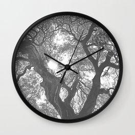 Negative Tree Wall Clock