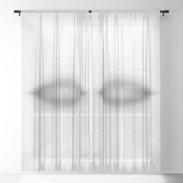 black and white, abstract Sheer Curtain