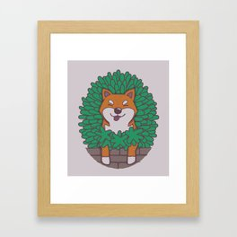 Just hangin' out here.. (Inu Series) Framed Art Print