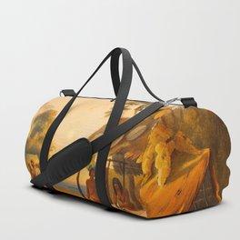 Watu Ticabu Illustrations Of Guyana South America Natural Scenes Hand Drawn Duffle Bag