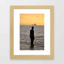 Crosby Beach Framed Art Print