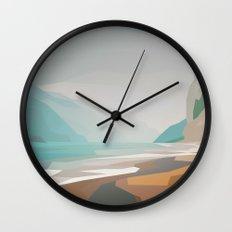 Cliffs - misty Wall Clock