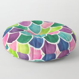 This Mermaid Life Bright by Andrea Floor Pillow