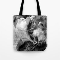 wolves Tote Bags featuring Wolves by Ricca Design Co.