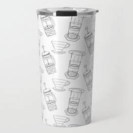 Coffee Brewing Pattern Travel Mug