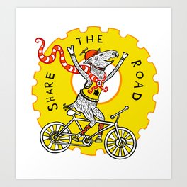 Share the Road with Bikes! Art Print