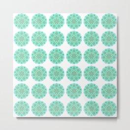 Collage of green madalas Metal Print