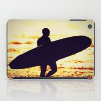 surfer iPad Cases featuring Surfer by  Alexia Miles photography