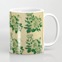 Green rustic floral pattern Coffee Mug
