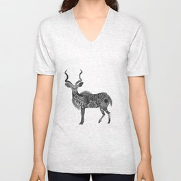 Henna-Inspired Kudu  Unisex V-Neck