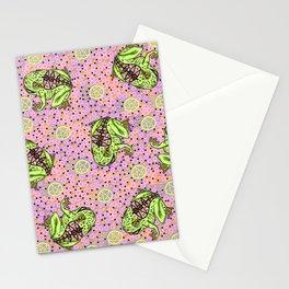 pentragram and frog Stationery Cards
