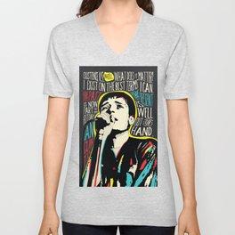 Ian Curtis Pop Art Quote / Joy Division Unisex V-Neck