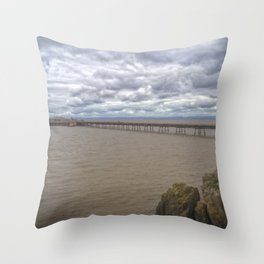Birnbeck Pier. Throw Pillow