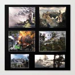 3D Fantasy multi  Canvas Print