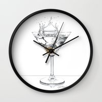 martini Wall Clocks featuring Martini by Giorgio Arcuri