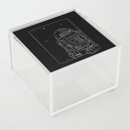 """R2-D2 White"" by Maggie Stephenson Acrylic Box"