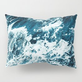 Disobedience - ocean waves painting texture Pillow Sham