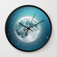 luna lovegood Wall Clocks featuring Luna by Good Sense