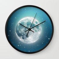 luna Wall Clocks featuring Luna by Good Sense