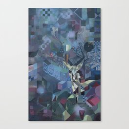 geometric forest Canvas Print