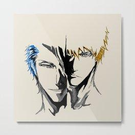 Ichigo Kurosaki and Grimmjow cools Metal Print