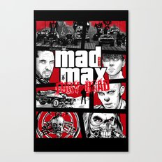 Mashup GTA Mad Max Fury Road Canvas Print