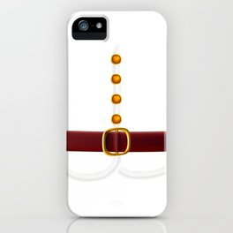 Funny Santa Claus Costume Gift for Xmas Lovers design iPhone Case