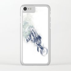 Flying High_Blue Clear iPhone Case
