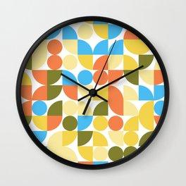 Playful Geometric Pattern Summer Wall Clock