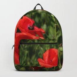 Red poppy Backpack