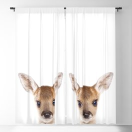 Baby Deer, Baby Animals Art Print By Synplus Blackout Curtain