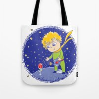 the little prince Tote Bags featuring Little Prince by Bruna Sousa