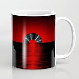 Vinyl sunset red Coffee Mug