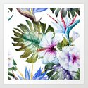 Watercolor Tropical Hibiscus by robincurtiss