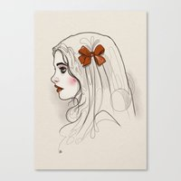 bow Canvas Prints featuring Bow. by shugmonkey