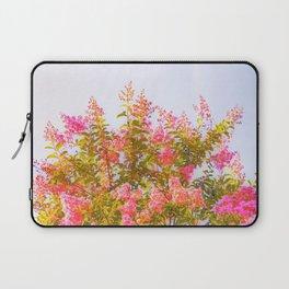 Pink Crepe Myrtle Flowers Laptop Sleeve