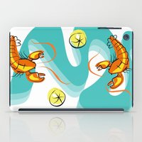 lobster iPad Cases featuring Rock Lobster by Moirarae