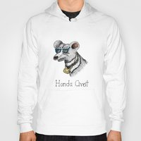 honda Hoodies featuring Honda Civet by Mike Rubenstein