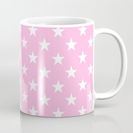 Stars (White & Pink Pattern) Coffee Mug