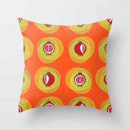 Pomegranage wind chime Throw Pillow