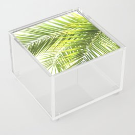 Palm leaves tropical illustration Acrylic Box