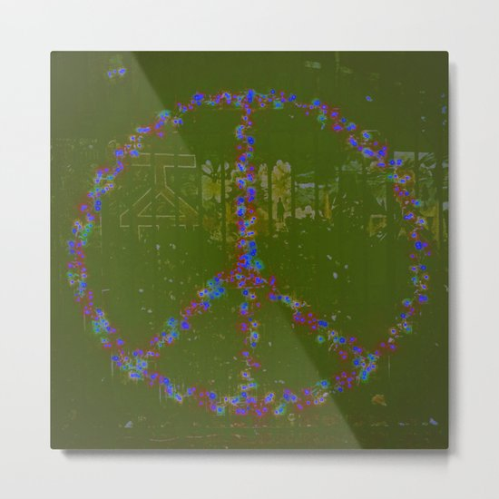 Peace B Wit U Metal Print
