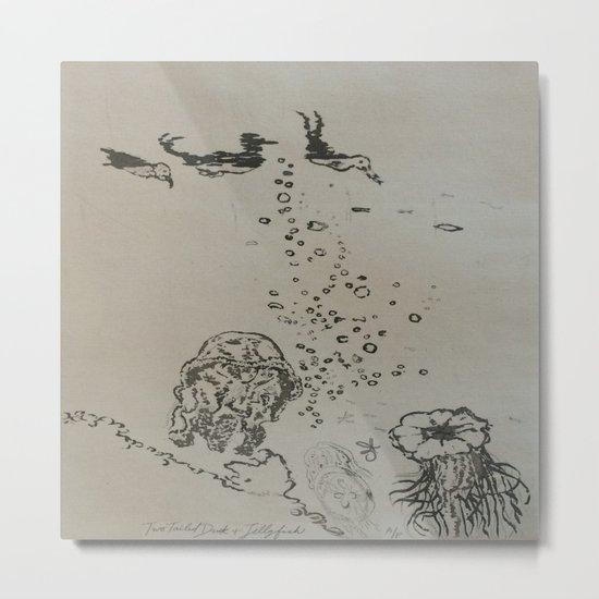Under The Sea Sketch Metal Print