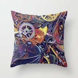 Gears of Time II Throw Pillow