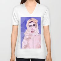 marina V-neck T-shirts featuring Marina by shirley