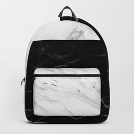 half black and white marble Backpack