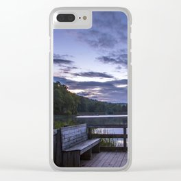 Sunrise at Longbranch Lake Clear iPhone Case