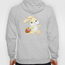 Cute easter bunny carrying basket with eggs Hoody