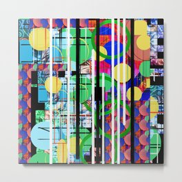 Abstract Multi-Color Digital Collage Metal Print